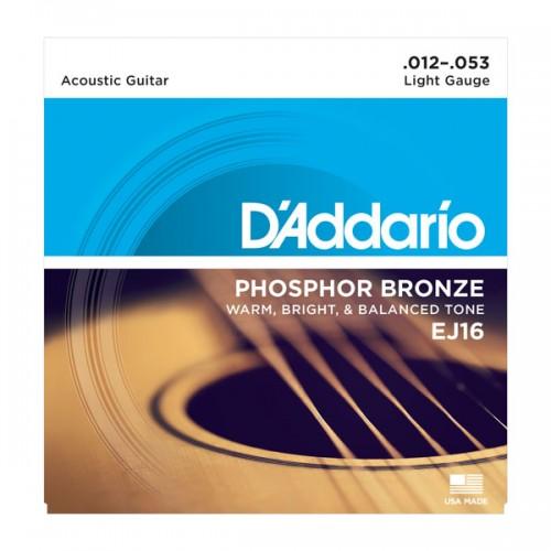 D'addario Light Phosphor Bronze