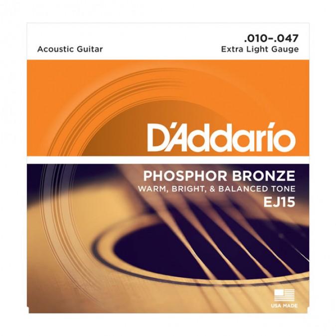 D'addario Extra Light Phosphor Bronze