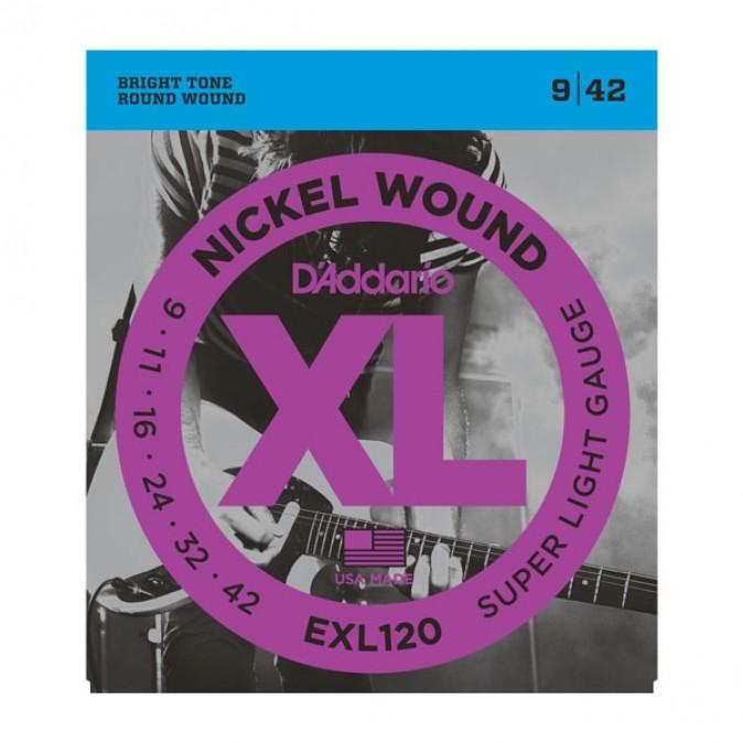 D'addario XL EXL120 Super Light Gauge