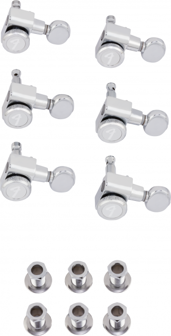 Fender Locking Tuners (Chrome, 6 A-side, Vintage buttons)