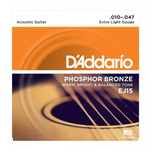 D'addario Extra Light Phosphor Bronze