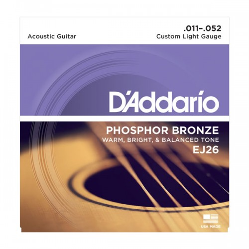 D'addario Custom Light Phosphor Bronze