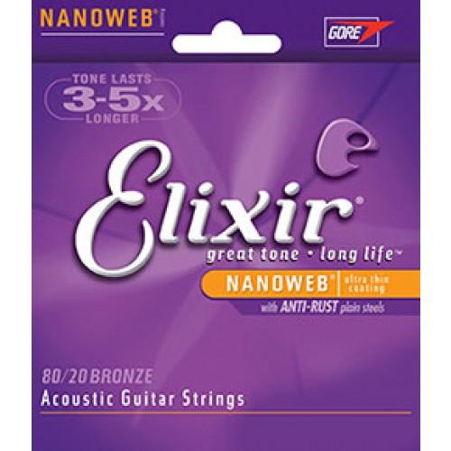 Elixir 80/20 Bronze Nanoweb Extra Light