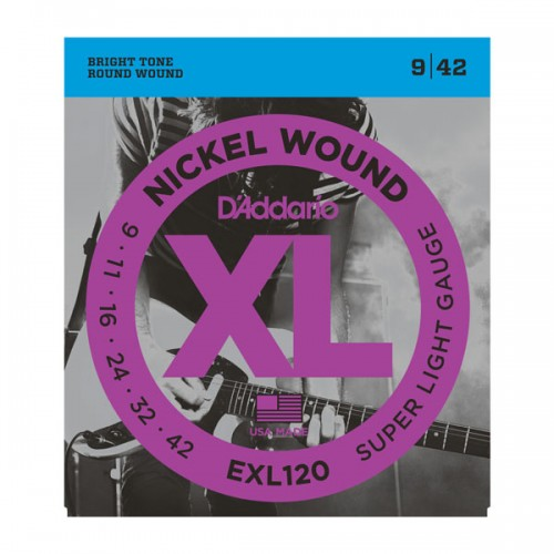 D'addario XL EXL120 Super Light Gauge