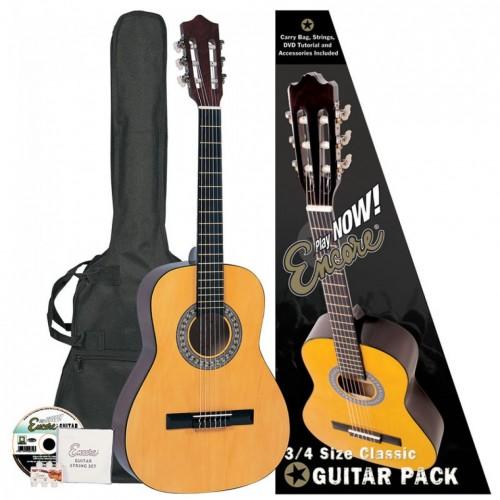 Encore ENC34OFT 3/4 Size Classic Guitar Outfit