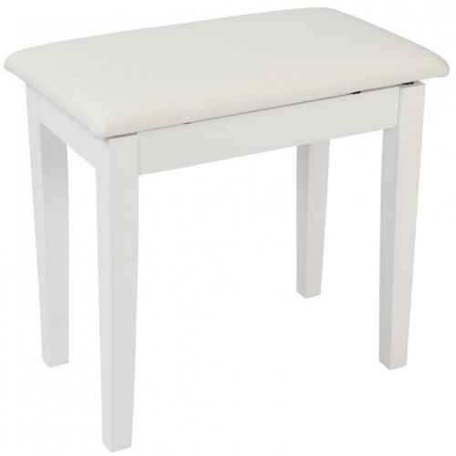 Kinsman Piano Bench with Storage (Satin White)