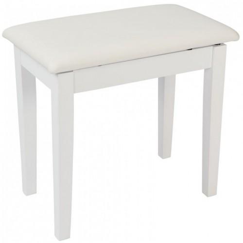Kinsman Piano Bench with Storage (Satin White)