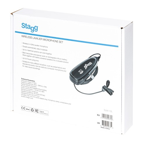 Stagg SUW12L Wireless Lavalier Microphone Set