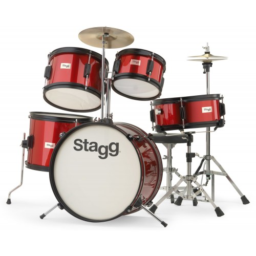 Stagg TIM JR 5/16 RD 5pc Junior Drum Set - Red