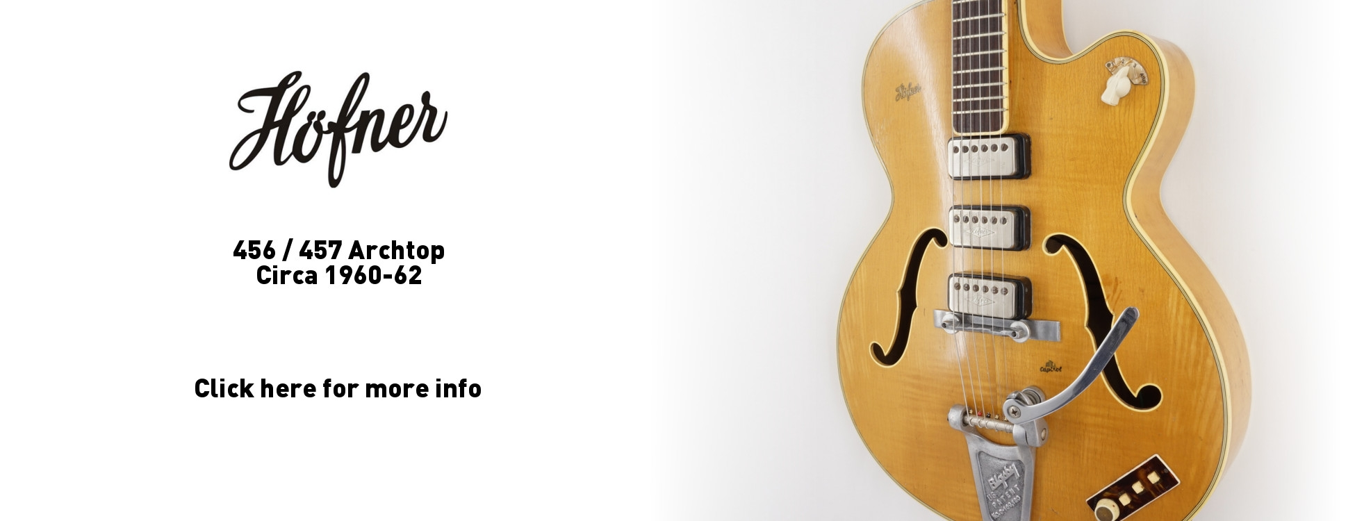 Hofner 456 457 Archtop Guitar